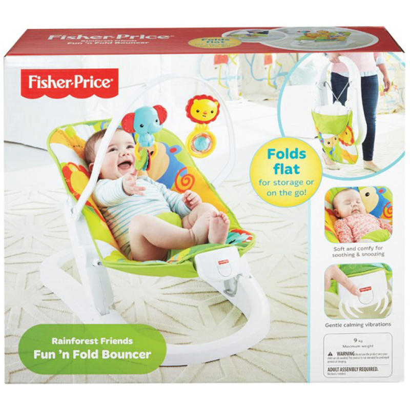 Rainforest Friends Fun N Fold Bouncer From Fisher Price Wwsm